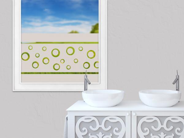 Sichtschutzfolie Wasserblasen Streifen