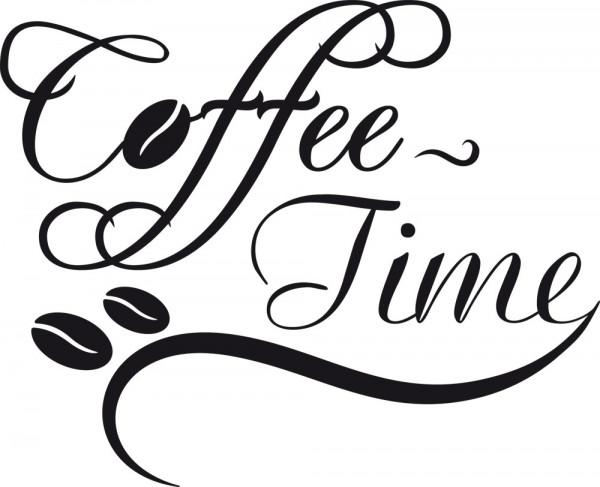 Wandtattoo Küche Schriftzug Coffee-Time