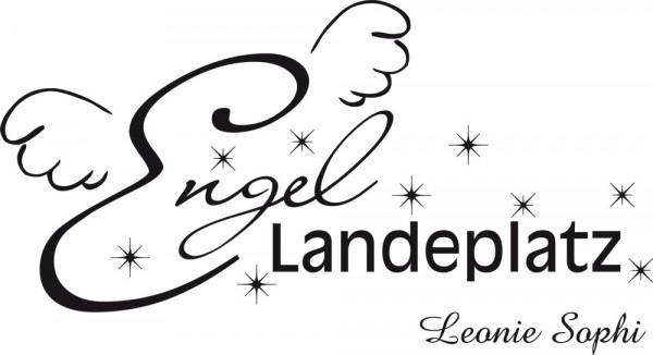 Wandtattoo Engel Landeplatz mit Wunschnamen
