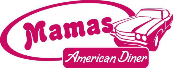 Wandtattoo Retro Mamas American Diner mit Oldtimer
