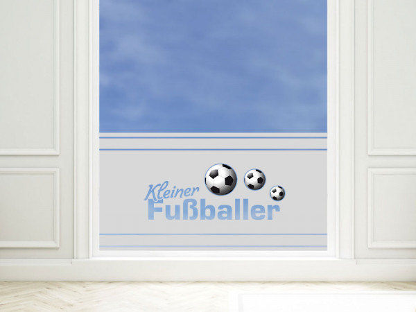 Sichtschutzfolie Kleiner Fußballer
