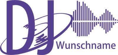 Wandtattoo DJ Wunschname mit Platte und Equalizer Music Wohnzimmer
