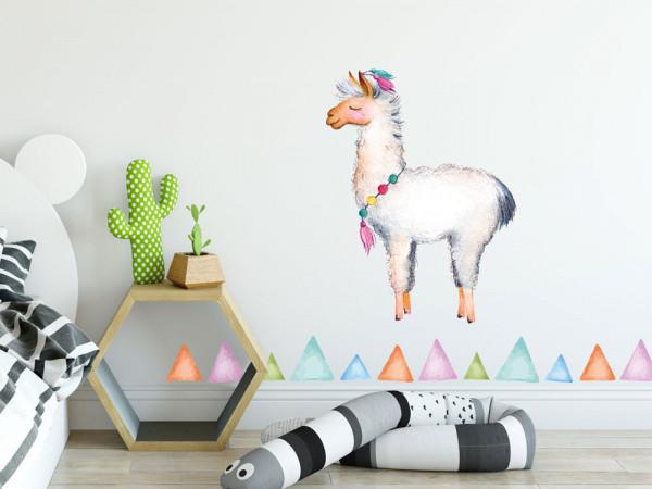 Wandtattoo Lama mit Ecken