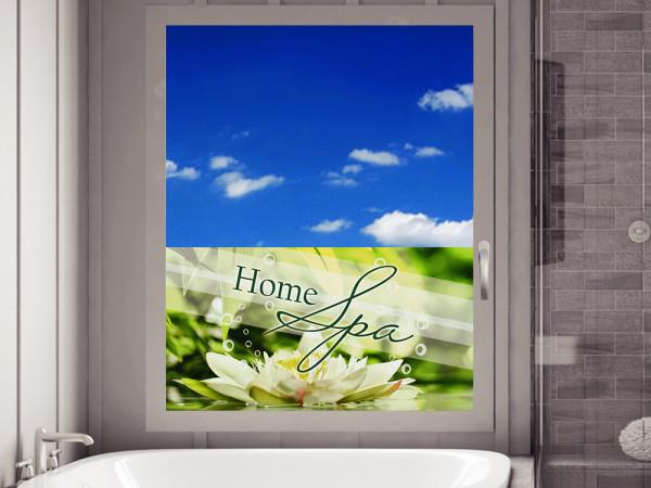 Sichtschutz Schriftzug Home Spa