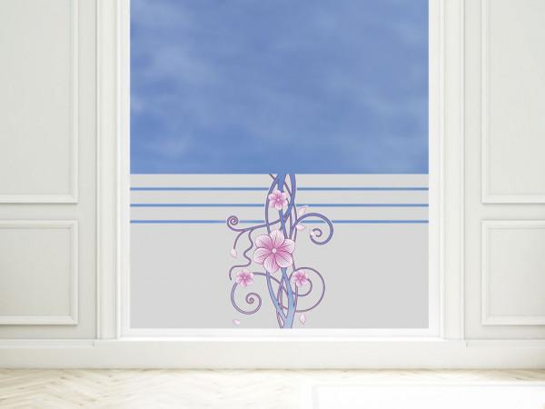 Sichtschutzfolie farbig Blumenornament