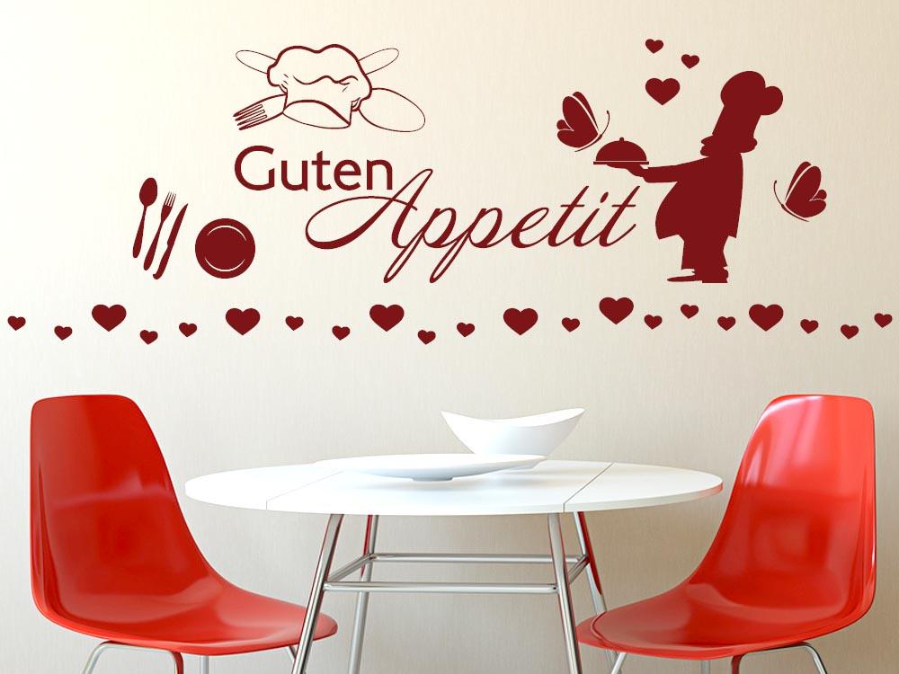 Wandtattoo Aufkleber Tattoo Set für Küche Guten Appetit ...