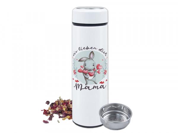Thermo-Teeflasche Mama zum Muttertag - Mama, wir lieben dich, Geschenk