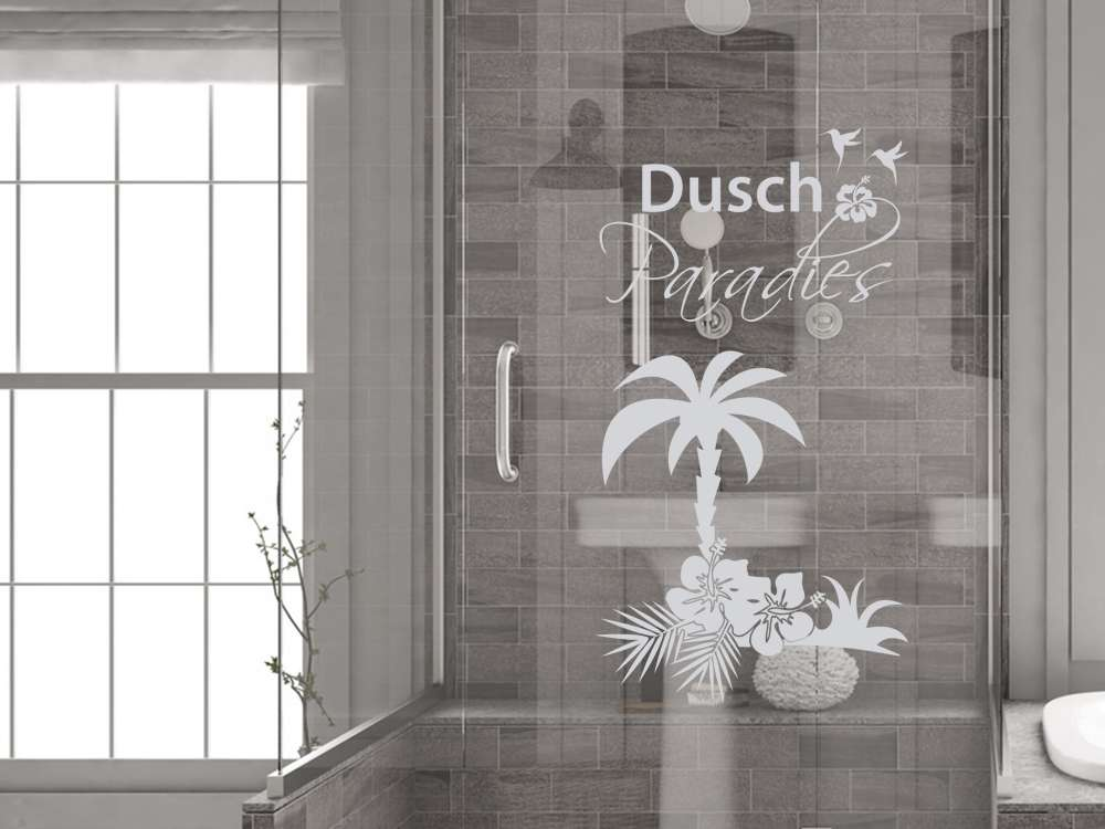 Dein Duschparadies mit dem Fenstertattoo für die Duschkabine