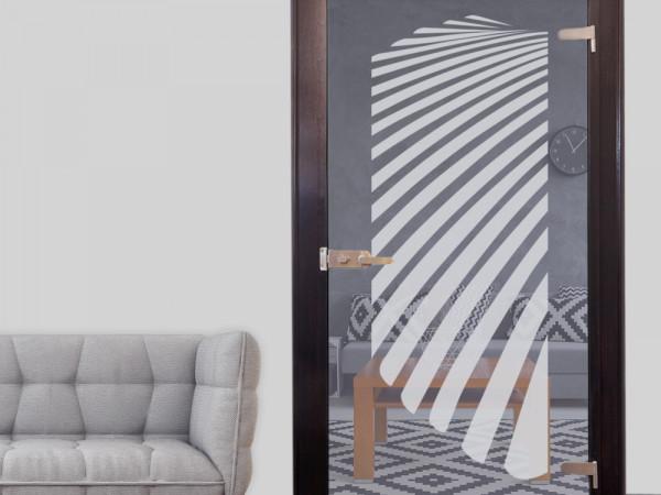 Glastür Aufkleber Fensterfolie für Wohnzimmer Streifen Muster