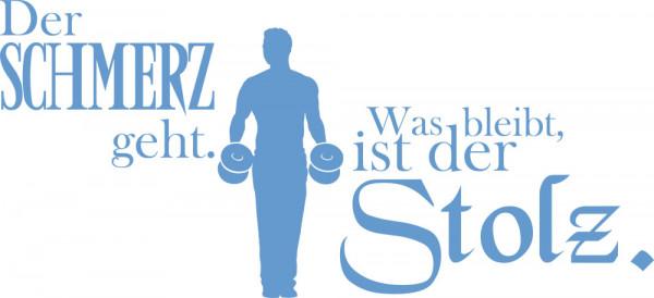 Wandtattoo Sport Zitat Der Schmerz geht?