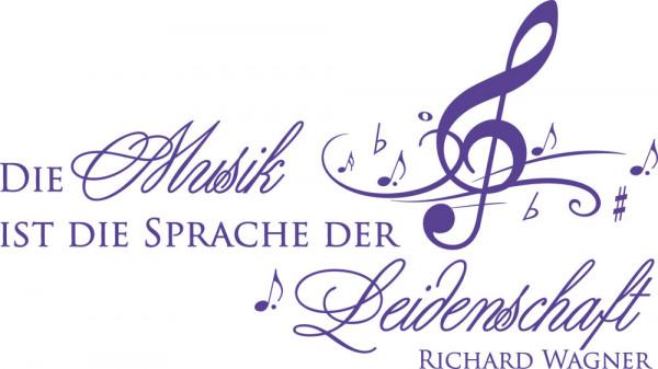 Wandtattoo Wandzitat Die Musik ist die Sprache der Leidenschaft