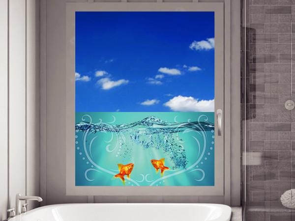 Sichtschutzfolie Fische Wasser Herz