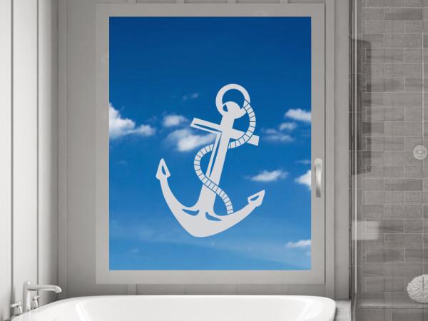 Fenstertattoo Anker Maritim, Fensterfolie Badezimmer