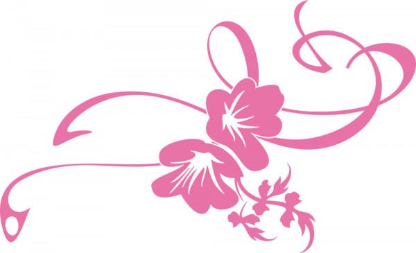 Wandtattoo Blume Schlafzimmer Lilie mit Ornament Blüte