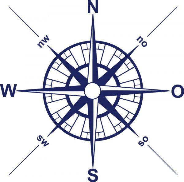 Wandtattoo Sport Kompass