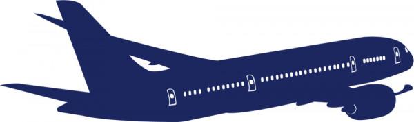 Wandtattoo Kinderzimmer Flugzeug für Jungs Fahrzeuge Himmel