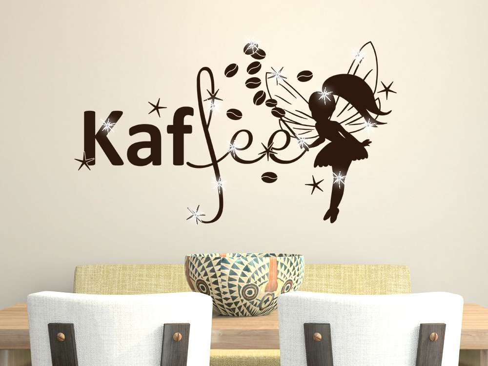 Wandtattoo Mit Swarovski Kaffee Fee | Kaffee Und Tee | Küche