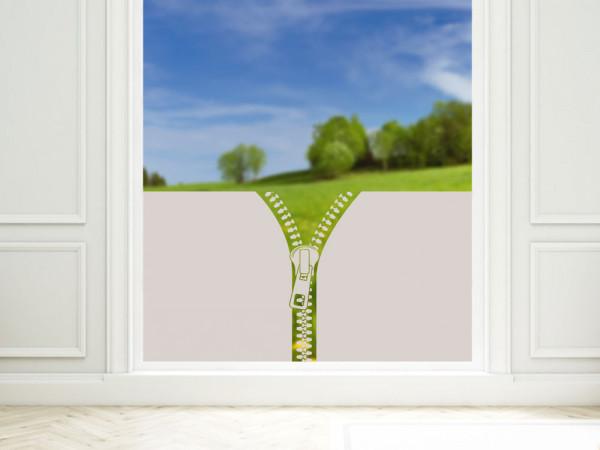 Sichtschutzfolie für Badezimmer mit Reißverschluss