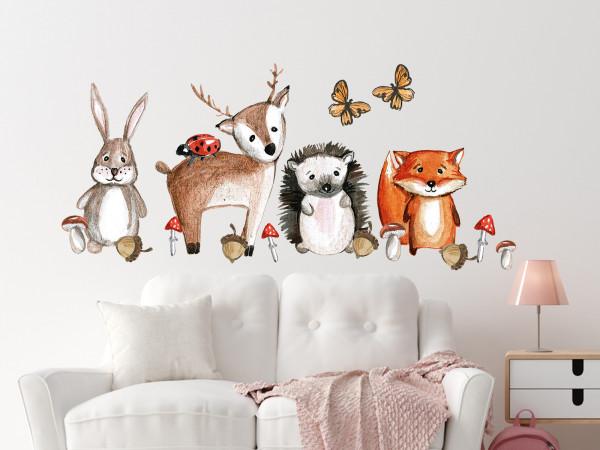 Wandtattoo Waldtiere Set für Kinderzimmer
