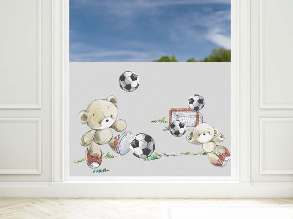 Sichtschutzfolie Kinderzimmer Fussballer, Fensterfolie