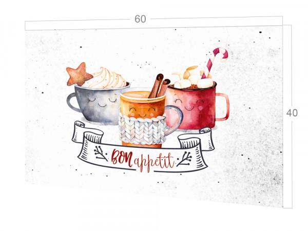 Spritzschutz Küche Glas Bon Appetit, Kaffee Heiße Getränke