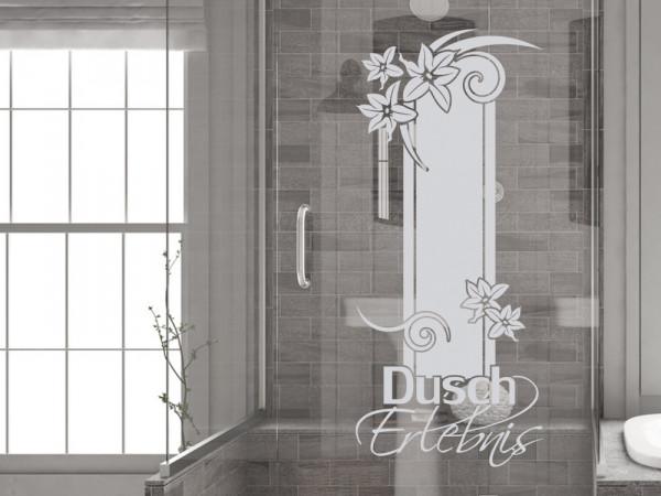 Fensterfolie Duschkabine für Badezimmer Dusch Erlebnis Spruch