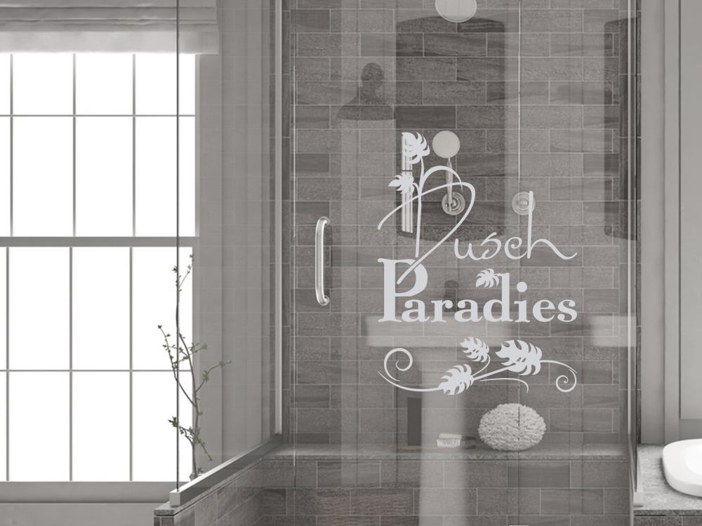 glasdekor fensterfolie fensterdekor f r badezimmer spruch bl tter dusche badezimmer. Black Bedroom Furniture Sets. Home Design Ideas