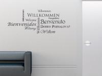 Wandtattoo Willkommen Spruche Fur Flur Eingang Bei Graz Design