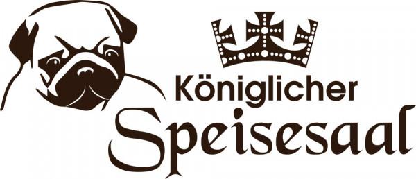 Wandtattoo Tiere Sprüche Hund Küche Flur Spruch Königlicher Speisesaal Mops