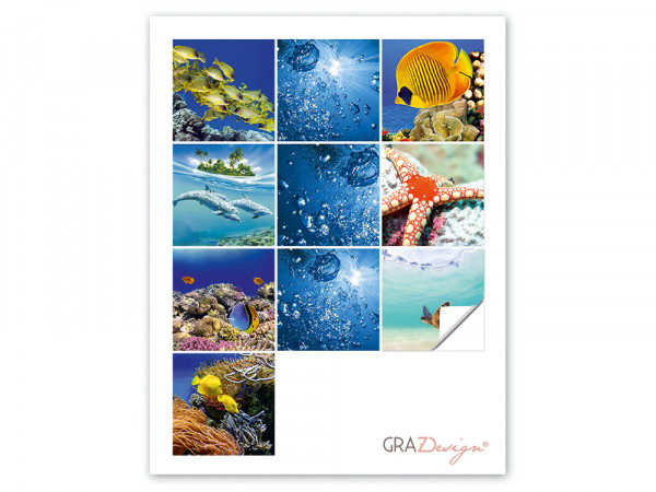 Fliesenaufkleber Set Unterwasserwelten