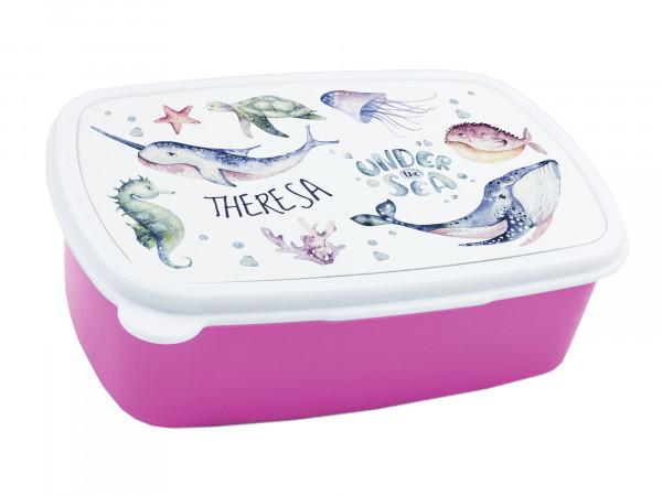Brotdose Kinder mit Namen für Mädchen Unterwasserwelt