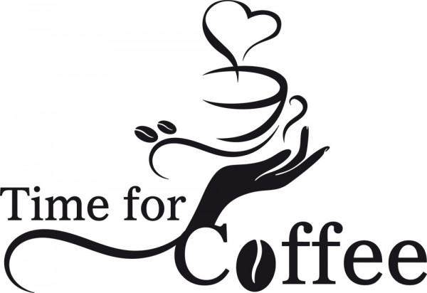Wandtattoo Wandspruch Time for Coffee für Ihre Küche