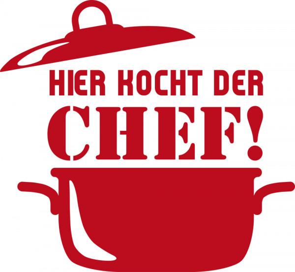 Wandtattoo für Küche Hier kocht der Chef!