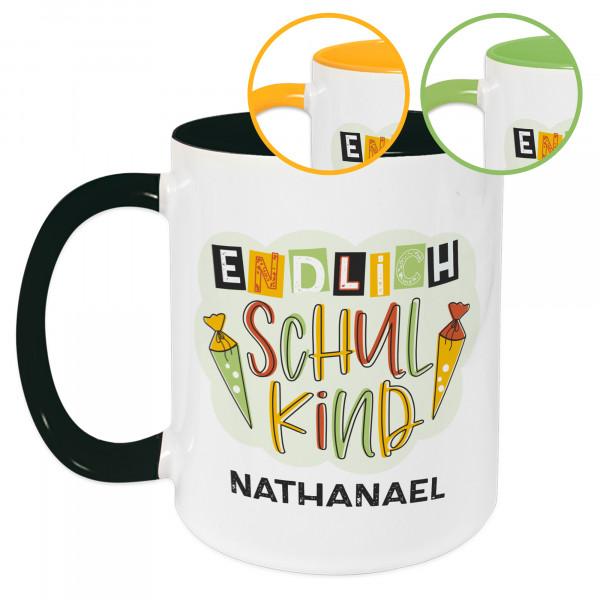 Tasse für Kinder zur Einschulung, personalisiert