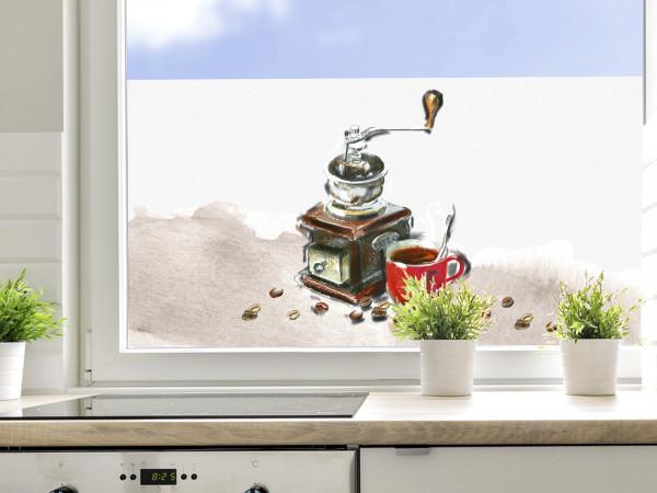Sichtschutzfolie Küche Kaffee, Fensterfolie für Küchenfenster
