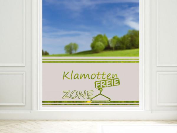 Sichtschutzdekor Milchglasfolie Fensterfolie für Badezimmer Spruch Klamotten