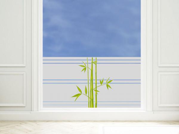 Sichtschutzfolie farbig Bambus Blätter