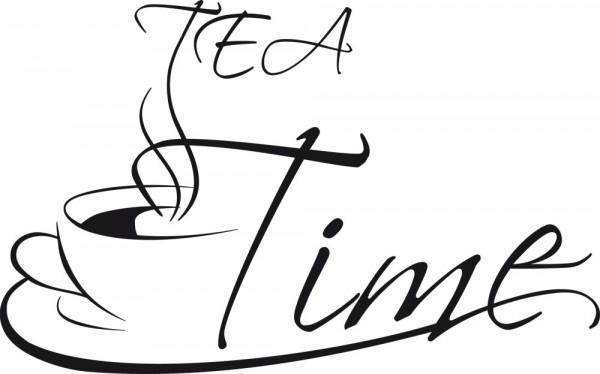 Wandtattoo Küche Schriftzug Tea Time