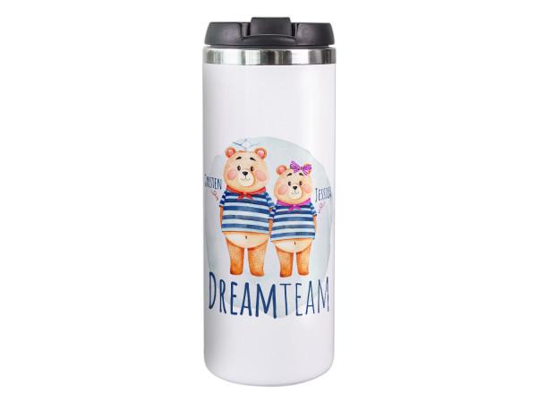 Thermobecher personalisiert mit Namen, 100% Auslaufsicher Isolierbecher Kaffeebecher to Go Autobecher Travel Mug