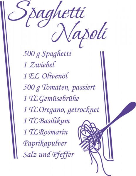 Wandtattoo für Küche Spaghetti Napoli Rezept