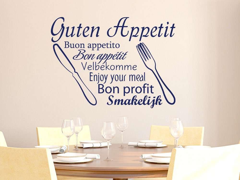 Wandtattoo für Küche Guten Appetit Sprachen | Guten Appetit Sprüche ...