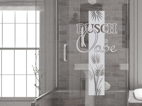 Fenstertattoo für Badezimmer Dusch Oase Blätter