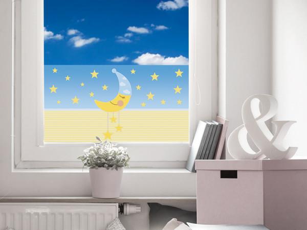 Sichtschutzfolie Kinderzimmer Mond Sterne Baby