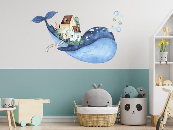Wandtattoo Wal mit Häusern