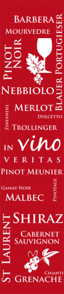 Wandtattoo Wandbanner In vino veritas Rotweine