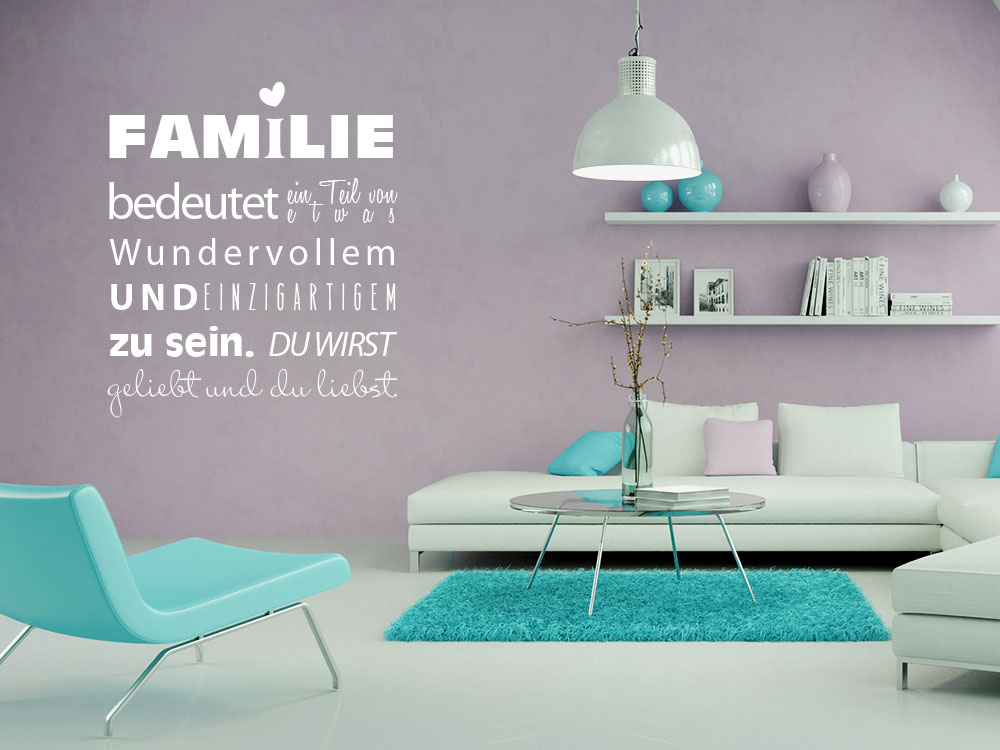 wandtattoo familie f r wohnzimmer spruch familie bedeutet familie wohnzimmer wandtattoo. Black Bedroom Furniture Sets. Home Design Ideas