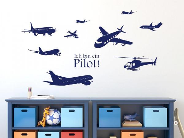 Wandtattoo Kinderzimmer Set Luft Flugzeuge Hubschrauber