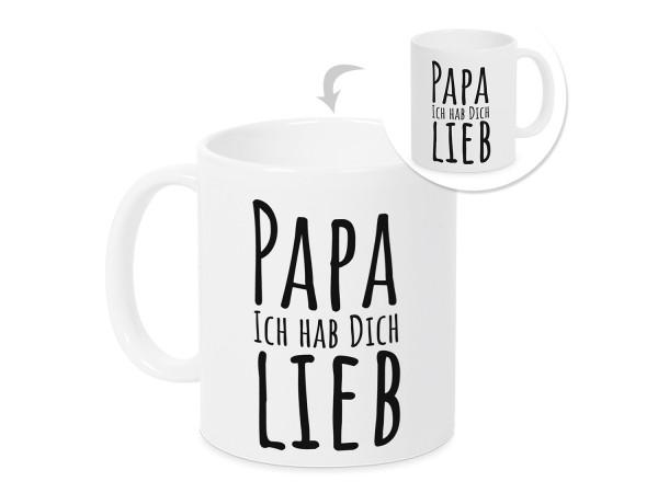 Kaffeebecher Tasse Papa ich hab dich lieb
