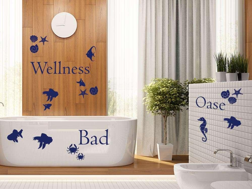Maritimes Wandtattoo für Deine Wellness Oase!