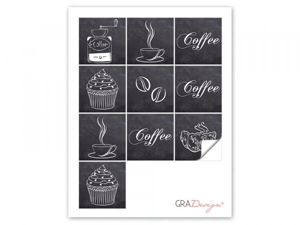 Fliesenaufkleber für Küchenfliesen Coffee Motiv